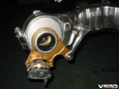 Modified a Ducati rear brake stay and the VFR torque rod