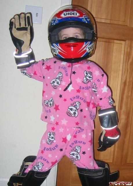 Geared up and ready to ride!