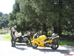 My VFR, Jim and his K1200RS