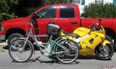My truck, VFR, and electric bike
