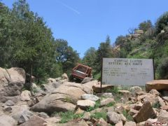 Highly modified 4x4 on Carnage Canyon