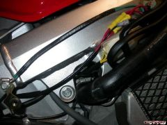 New charge and ground wires taped