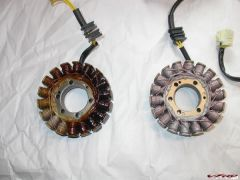 Old stator (left) and new stator