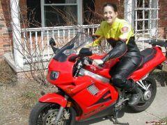 New bike, new leathers, May 2007