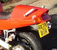 VFR750 tail with docked mudguard