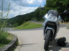 My VFR and the firest bend going down to Mosel river