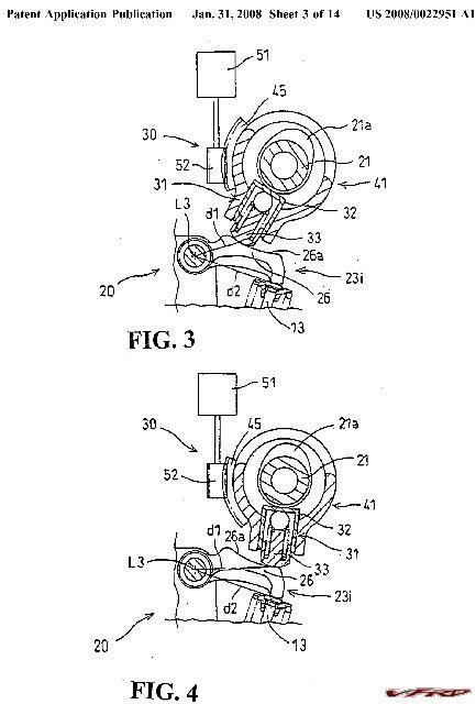 honda variable valve lift drawing