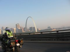 My buddy Bob in traffic in St. Louis