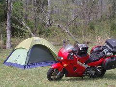 Camping a Cherohala Motorcycle Resort