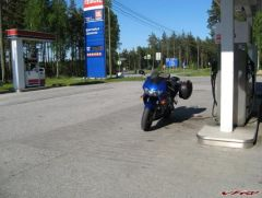 Filled up and ready for the trip to Imatra