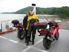 Sistersville ferry over the Ohio River