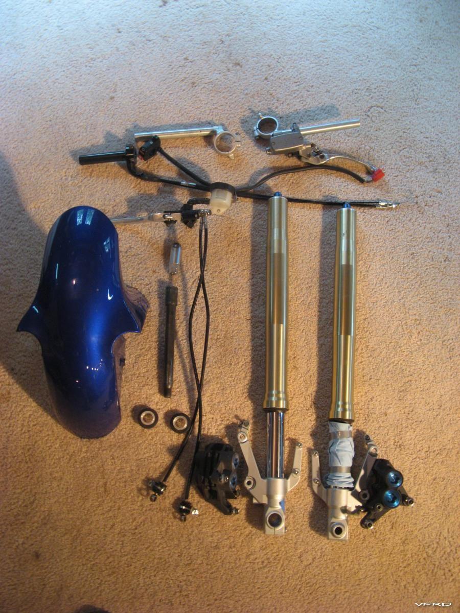 VFR 2000 R1 Fork Conversion