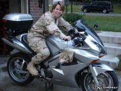 The wifey on my bike