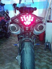 Thurn clear smoked led tail light