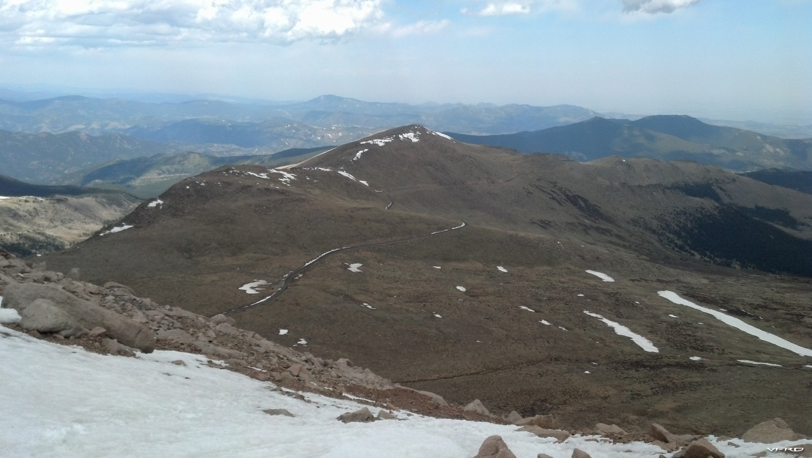 The road up Mt Evans