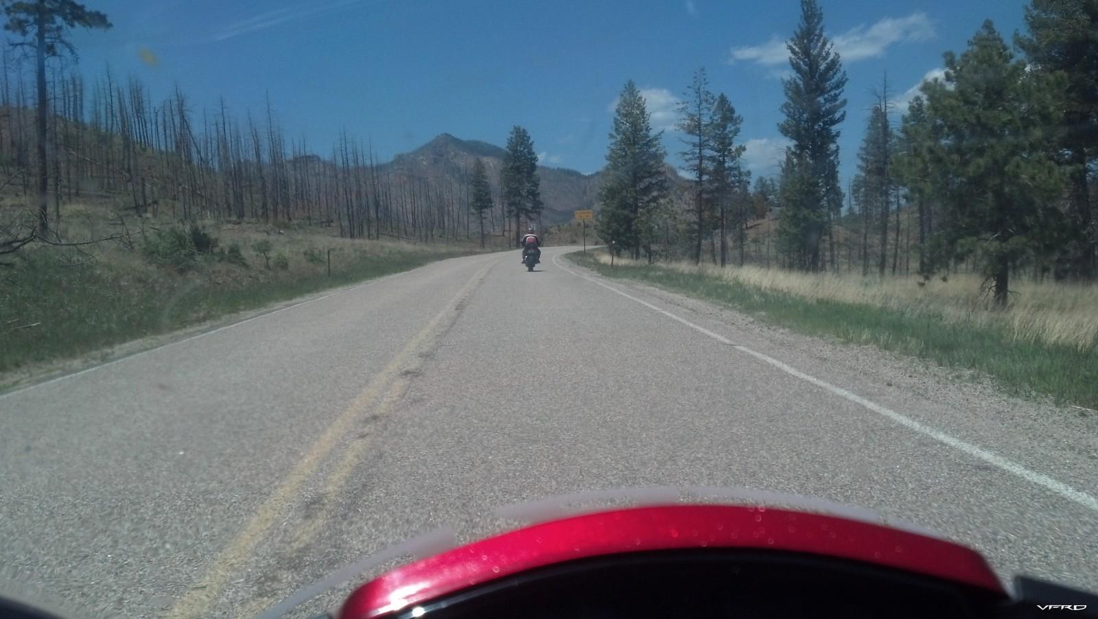 Following reddog on hwy 67