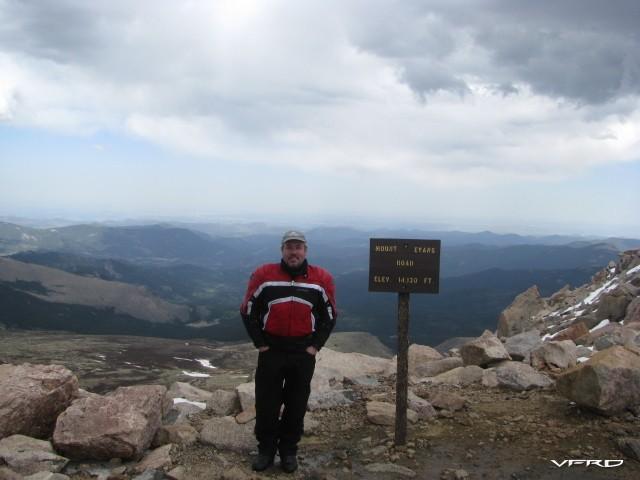 Reddog at the top of Mt Evans