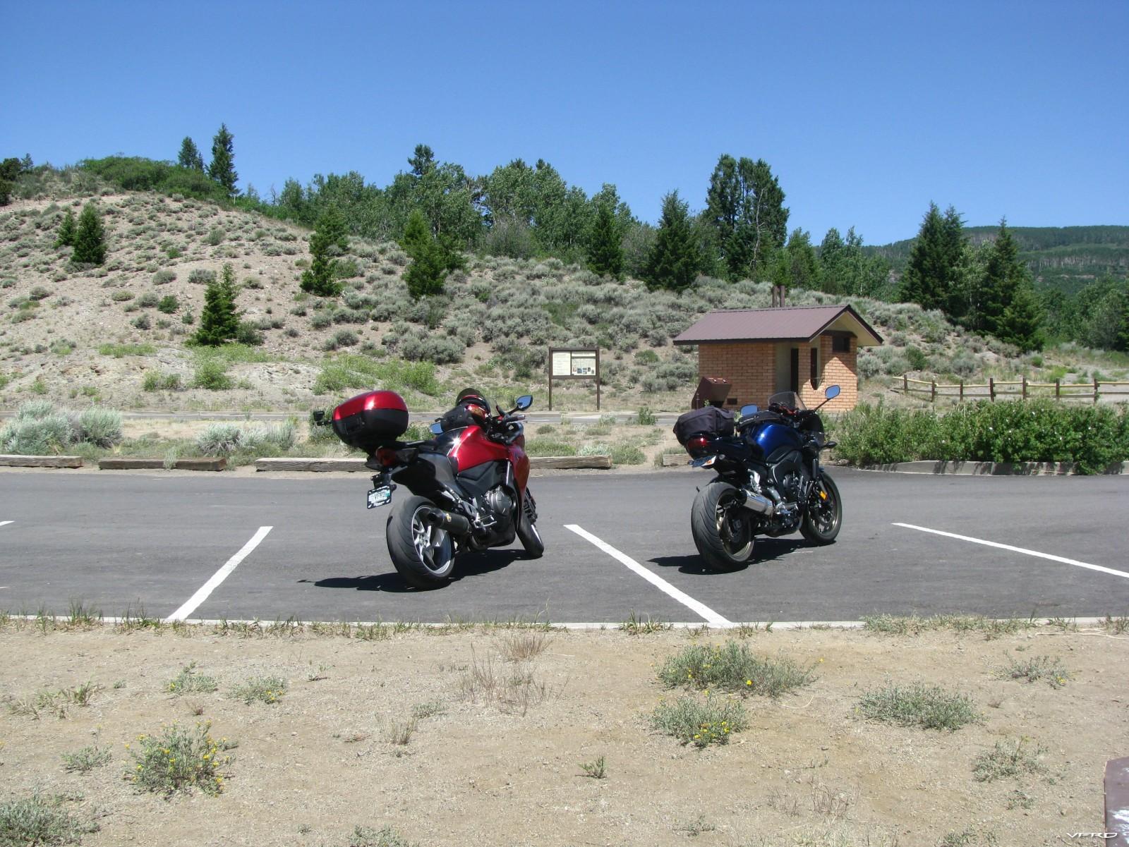 Hermit Point Rest stop — at Hermit Point.