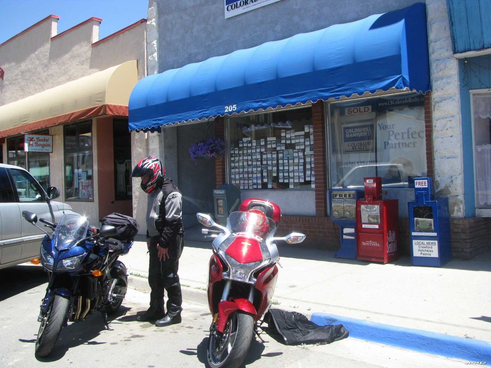Lunch stop Main Street — in Paonia, Colorado
