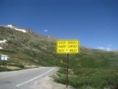 12,000 feet up hardly any snow at all