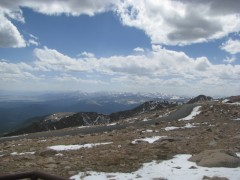 Mt Evans to the west