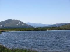 Small lake at the top — at Independence Pass.