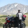 With Reddog at Independence Pass.