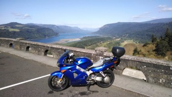 VFR at Vista House on Columbia Gorge.