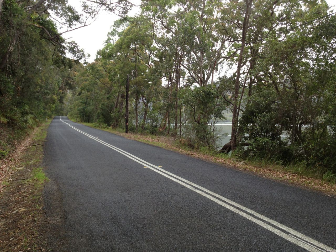Wiseman's Ferry Rd. Next to Nepean River.