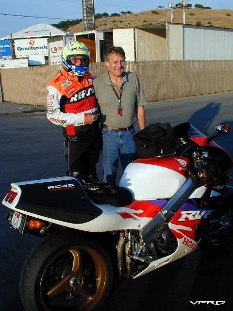 Larry and Jermey Burgess Laguna Seca Pits
