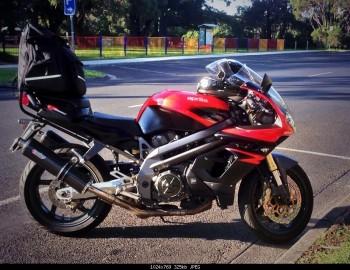 My 03 Falco Aprilia on the way to Phillip Island for MotoGP 2013