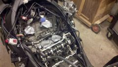 Covered the intakes with tape to avoid anything getting into the engine