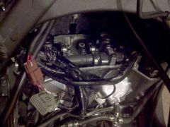The front cylinder has very cramped working space