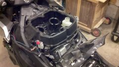 Top cover and air filter removed
