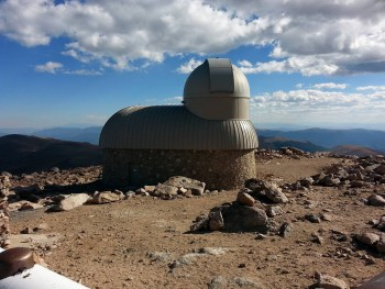 Meyer-Womble Observatory, 114148 feet above sea level, highest operating observatory in the west