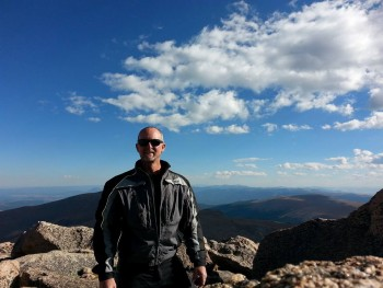 Pike's Peak to the south from Mt. Evans