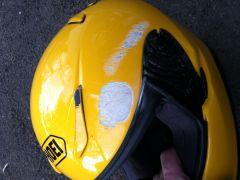 Trashed Helmet