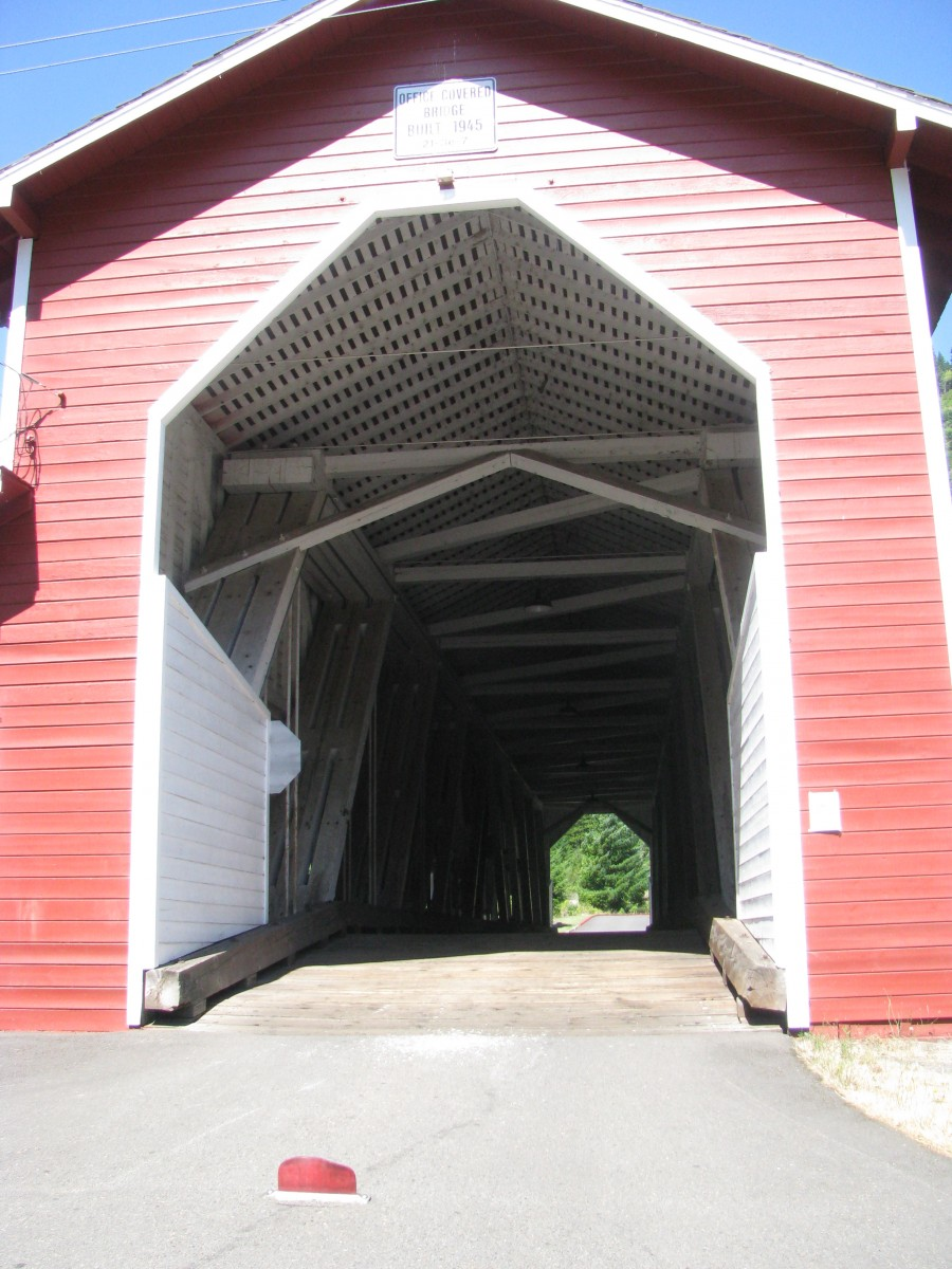 Covered Bridge at Westfir Oregon
