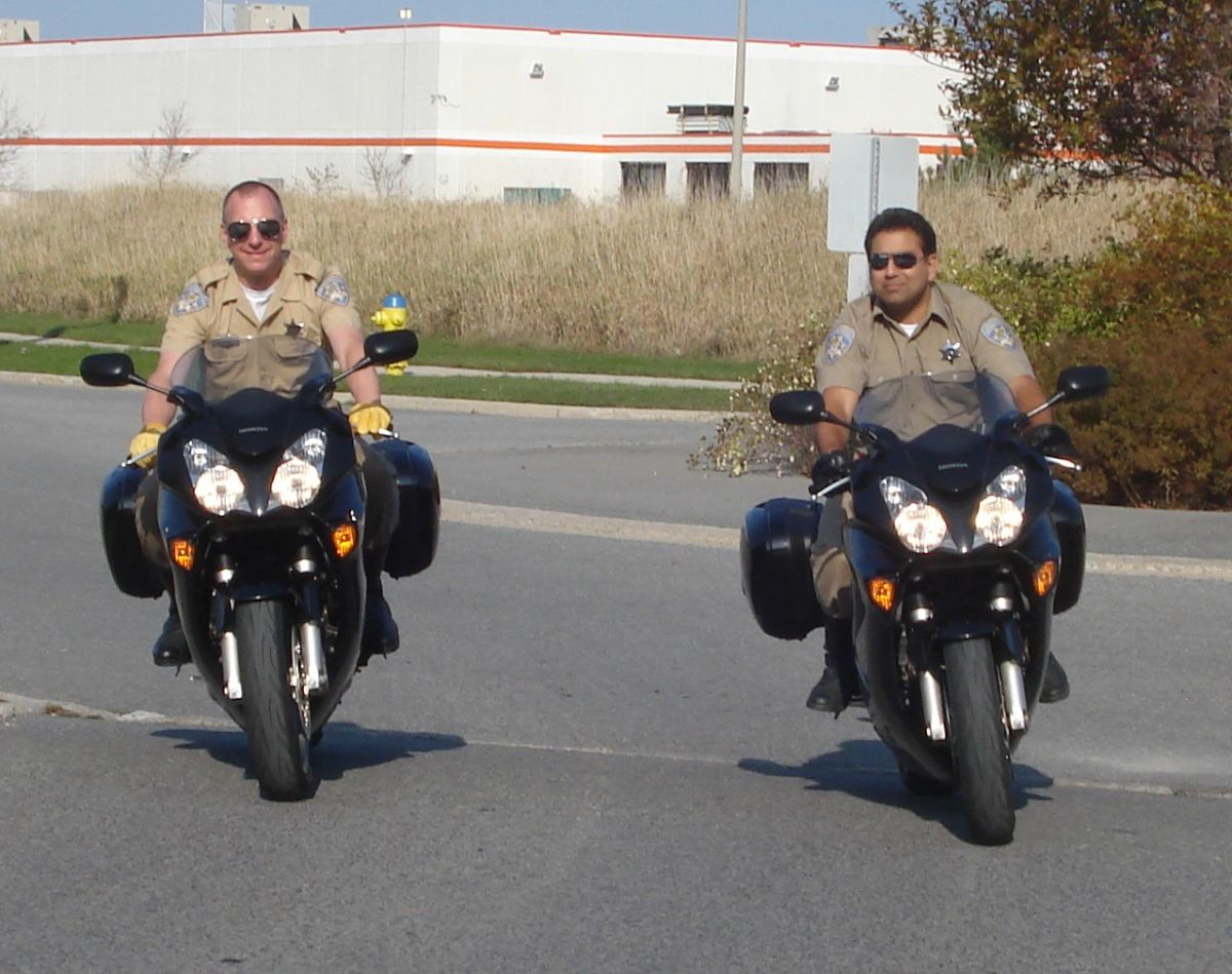 Ponch & John (BartmanEH and Speedball73 do not endorse riding without a helmet even at low speed)