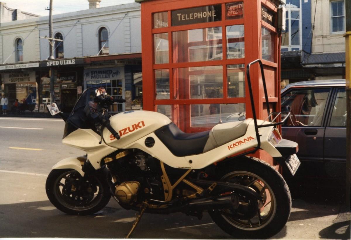 Late Eighties 1986 GSX750 Katana 'Pop Up', Symonds Street, Auckland, NZ