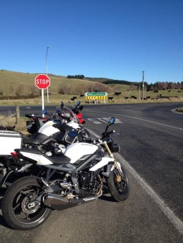 800 winter kms central North Island 2014 on a 2014 Street Triple