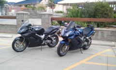 The first 2 VFR's waiting patiently for others on Mon AM