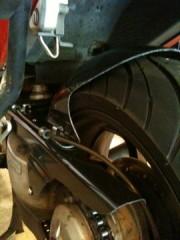 Left rear, tire on
