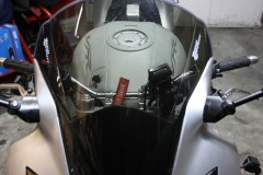Added 10mm brackets between the mirrors and the frame