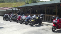 "Hot Springs NC after riding the ""rattler"""