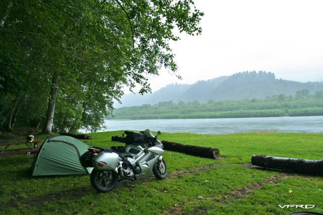 Camping along Klamath River