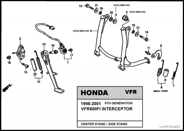 CENTER STAND PARTS VIEW V6