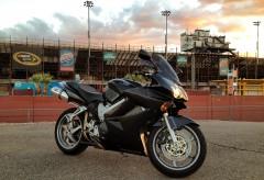 raceway sunset