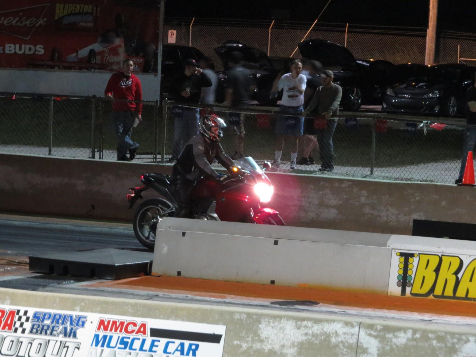 VFR 1200F Drag Race Results