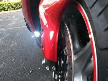 Honda VFR1200 Turned Stock Reflector Mounts into LED DRL's